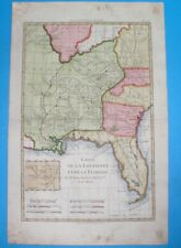1780 RARE ORIGINAL MAP UNITED STATES FLORIDA GEORGIA LOUISIANA ALABAMA CAROLINA