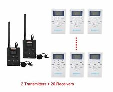 60-108MHz Wireless Tour Guide System for Tour Guide Translation Training 2T20R
