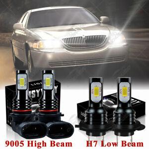 For Lincoln Town Car 2003-2011 - 4PC 6000K LED Headlight Bulb High Low Beam Kit