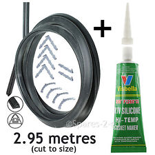 2.95m Door Seal Glue for Bosch Neff Siemens 3 or 4 Sided Oven Cooker Clips