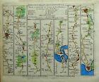 HAMPSHIRE WINCHESTER RINGWOOD SOUTHAMPTON Jefferys Antique Strip Road Map 1775