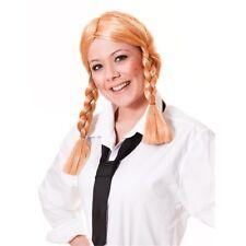 Blonde Ladies Schoolgirl Wig - Fancy Dress School Plaits Adult