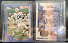 New listing x2 LOT) Peyton Manning + Marvin Harrison '00 Topps Blue RC Non Auto Rookie Relic
