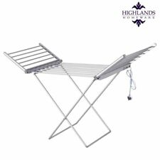 18bar Electric Heated Clothes Airer Dryer Folding Towel Dry Fast Indoor Laundry