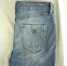 NWT GUESS Women's Light Wash Destroyed 1981 High-Rise Skinny Denim Jeans 29 x 29