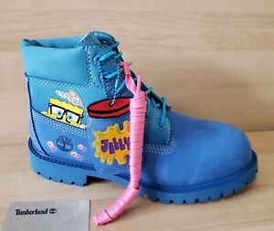 TIMBERLAND x SpongeBob 6 Inch Waterproof Nubuck Leather Boots Youth 1.5 Premium