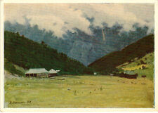 1958 Russian postcard BECHO IN SVANETI GEORGIA by Ukrainian painter N.Yaroshenko