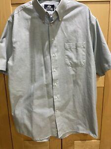 Stafford Wrinkle Free men's shirt button up sky blue short sleeve  2XL 17 1/2