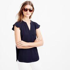 Jcrew F0117 Size 0p Petite Flatter-sleeve Top $78