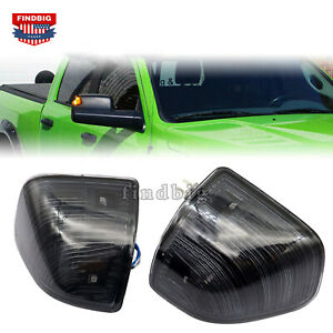 New Smoked Amber LED Side Mirror Turn Signal Lights For Dodge Ram 1500 2500 3500