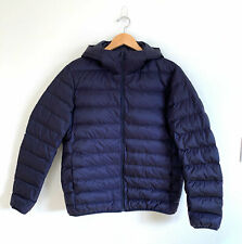 Uniqlo Mens Ultra Light Down Packable Jacket Parka Hooded Coat Puffer Navy MED