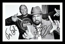 DR DRE & ICE CUBE AUTOGRAPHED SIGNED & FRAMED PP POSTER PHOTO