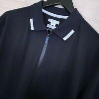 BRAX Hi-Flex Percy 1/4 Zip S/S Golf Polo Shirt Cotton Blend Men's Size XL