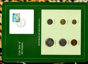 Coin Sets of All Nations Seychelles all 1982 UNC Coral stamp