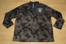 Oakland Raiders Starter 1/4 Zip Pullover Fleece Camo Jacket men's size Medium