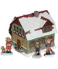 M I Hummel Gathering Pub Set NIB Miniature Winter Village Set 4 Pieces #157305