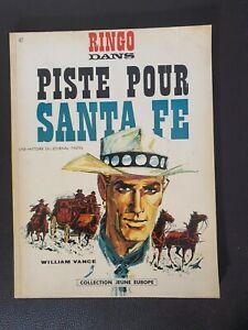 Bande dessinée BD EO 1967 Ringo piste pour Santa Fe TTBE Spirou Asterix Tintin