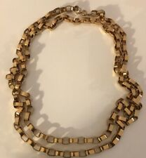 """NAPIER Goldplated Box Chain Link Necklace 60"""" Long"""