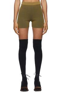 Jacquemus Womens Khaki Stripes Le Short Aranchia Shorts Size XS