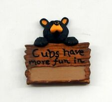 Big Sky Carvers Bearfoots Bears Cubs Have More Fun Magnet New Free Shipping
