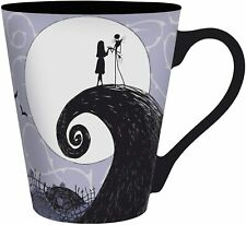 OFFICIAL NIGHTMARE BEFORE CHRISTMAS JACK SALLY TAPERED COFFEE MUG CUP NEW IN GIF