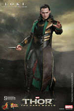 "Hot Toys LOKI Thor:The Dark World 12"" Inch Action Figure MMS231 MARVEL Avengers"