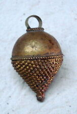 ancient antique old brass pendant necklace or head ornament india