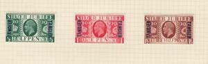 GB-TANGIER (MK7104) # 508-510 VF-MH 1935 KING GEORGE V SILVER JUBILEE SET CV $19