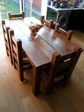 Handmade Chunky Reclaimed Rustic 6ft X 3ft Dining Table Light Oak Finish