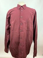 Eddie Bauer Button Down Shirt Multi Plaid Long Sleeve Cotton Mens Size XLT Tall