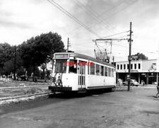PHOTO  BELGIUM TRAMS 1959 MONS AV. ARME SNCV S TRAM  NO  10281  ON ROUTE 90