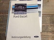 Ford Escort Bedienungsanleitung frühe 1990iger Jahre