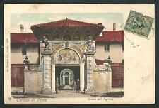 Certosa di Pavia - cartolina viaggiata nel 1904 per l'Argentina