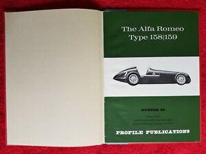 The Alfa Romeo Type 158/159 Profile Publications no.30 Bound RARE MINT