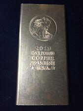 Copper Commercial 1 Lb .999 Fine Walking Liberty Art Bar 2013 Pound