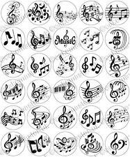 30 X Notas Musicales Musical parte comestible de arroz Oblea papel Cupcake Toppers