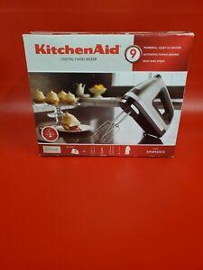 KitchenAid Digital hand mixer 9 Speed khm920cs Dough hooks/Whisk/Rod/Bag Silver