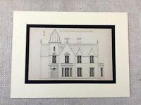 1880 Antik Architektonisch Aufdruck Elisabethanische Architektur Mansion House