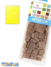 MOSAICO -1 conf. tessere vetro 1x1cm- 310 pezzi -giallo
