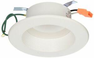 "HALO Recessed RL460WH927PK 90 CRI 2700K LED Retrofit with White Trim, 4"", Warm"