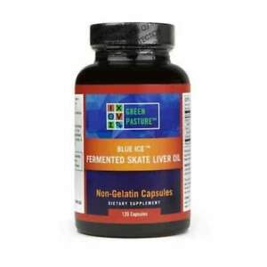 NEW Fermented Skate Liver Oil | Green Pasture-Blue Ice 120 Capsules