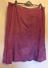 Bhs UK20 EU48 US16 new mulberry-coloured moleskin fully-lined skirt