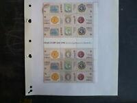 1990 AUSTRALIA 150th 1st POSTAGE STAMP 18 STAMP SHEETLET MINT