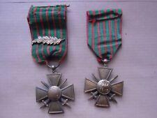 2 croix de guerre 14-15 et 14-18 WWI palme , citation