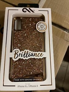 New Authentic Case Mate Brilliance Iphone xs/ Iphone X- Rose Gold