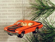 1970 BUICK SKYLARK GSX '70 ORANGE BLACK CHRISTMAS ORNAMENT XMAS