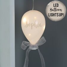 Personalised LED Glass Balloon Christmas Party Decoration Festive Sparkle