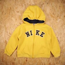 Toddler Vintage Nike Hoodie Size Childs Age 7 Yellow