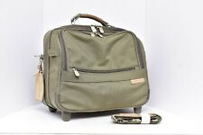 BRIGGS & RILEY 2 WHEEL ROLLING CABIN BAG OLIVE Companion Tote Carry on 06-U114