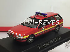 "Norev Peugeot 405 Break 1991 ""Pompiers"" 1/43 474553"
